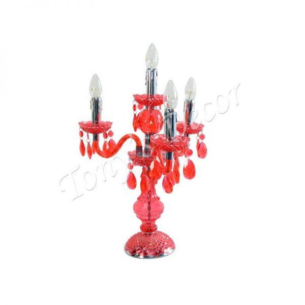 Арт настолна лампа Жулиета, червена