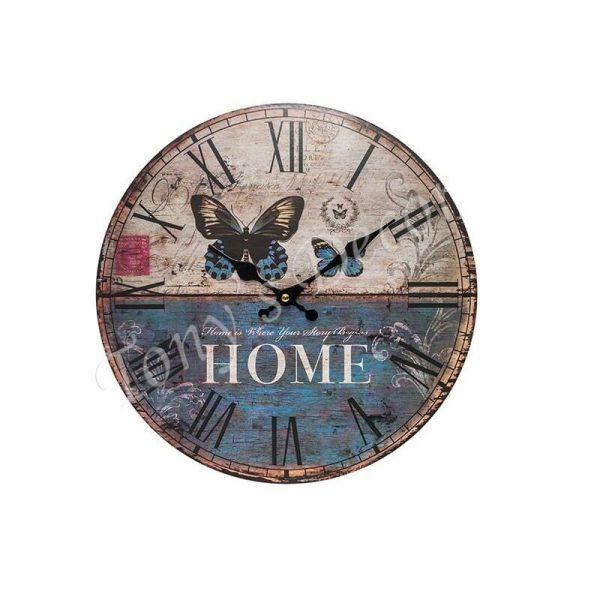 Часовник с декорация природа и пеперуди