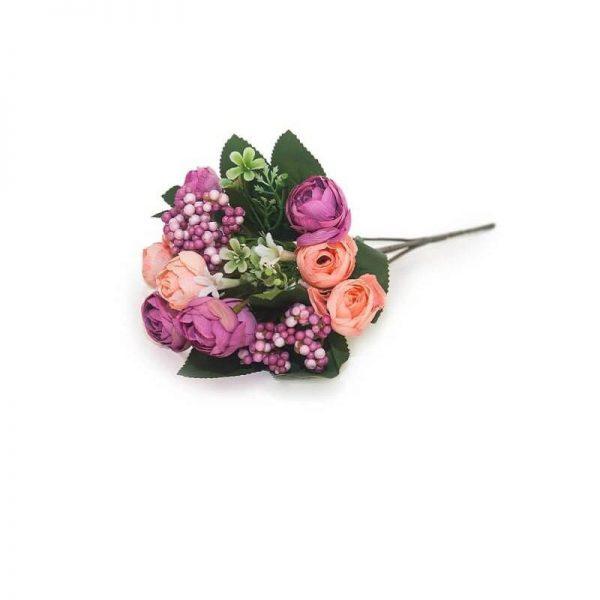 Изкуствени цветя букет микс Рози. 26 см