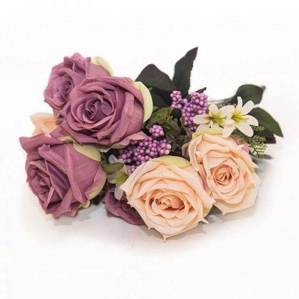 Изкуствени цветя букет Рози, 5 вариации