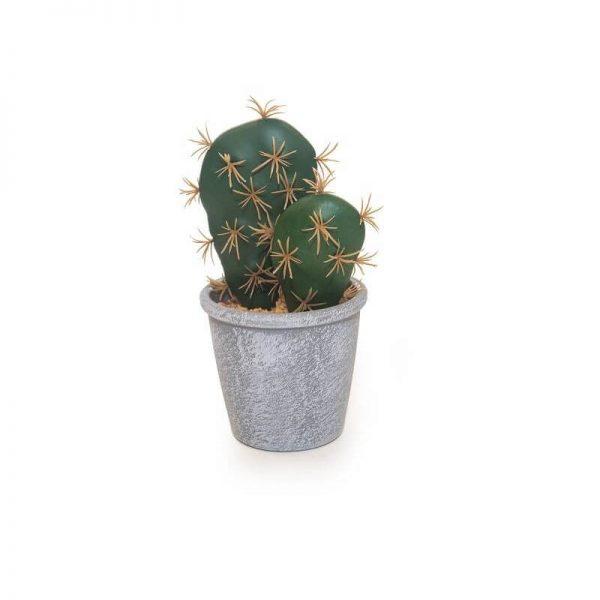 Изкуствени цветя Кактус в сива саксия