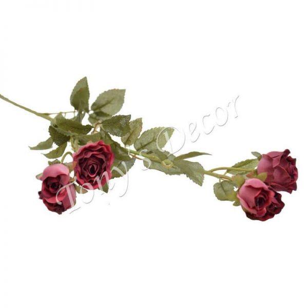 Изкуствени цветя, клонка ситна Роза