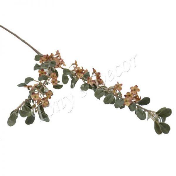 Изкуствени цветя с тънко стъбло и 2 разколонения, 4 цвята, 90 см