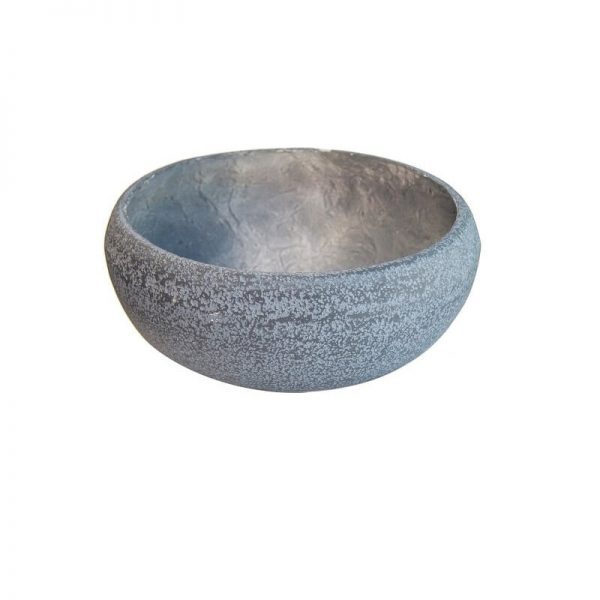 Каменна кашпа - купа Сива, 55х24 см