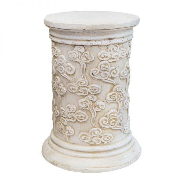 Каменна колона-постамент с декор цветя, 36х36х55см