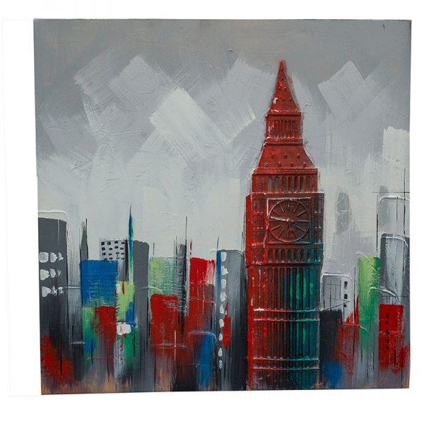 Картина City масло с 3D ефект, 100х100 см