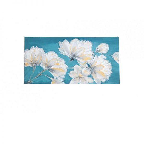 Картина/бяло цвете/масло