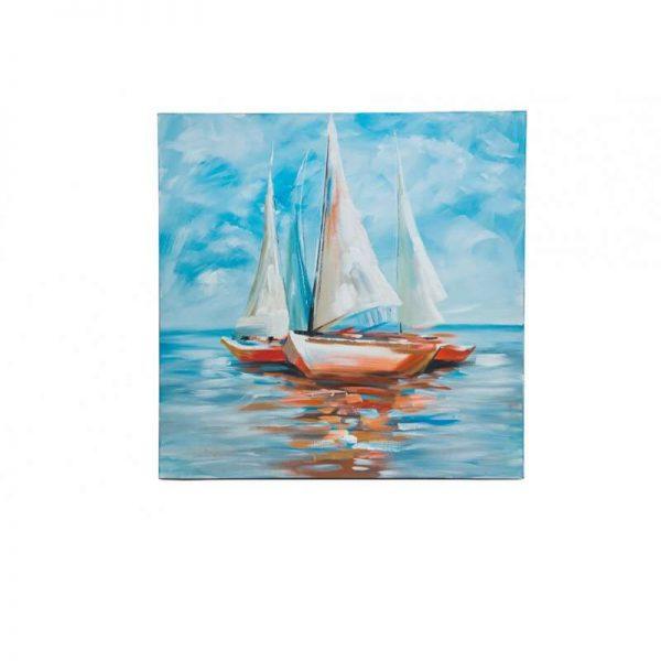 Картина/лодка в море/ масло