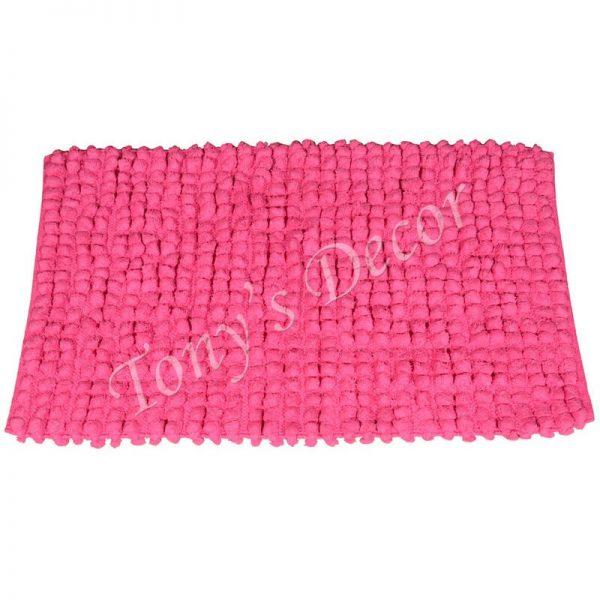 Килим-черга от памук, Розов, 50x80