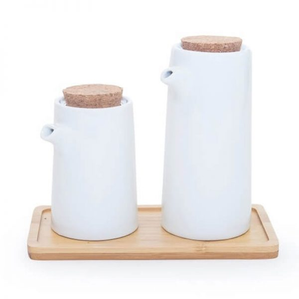 Комплектен прибор канички- бамбук и керамика