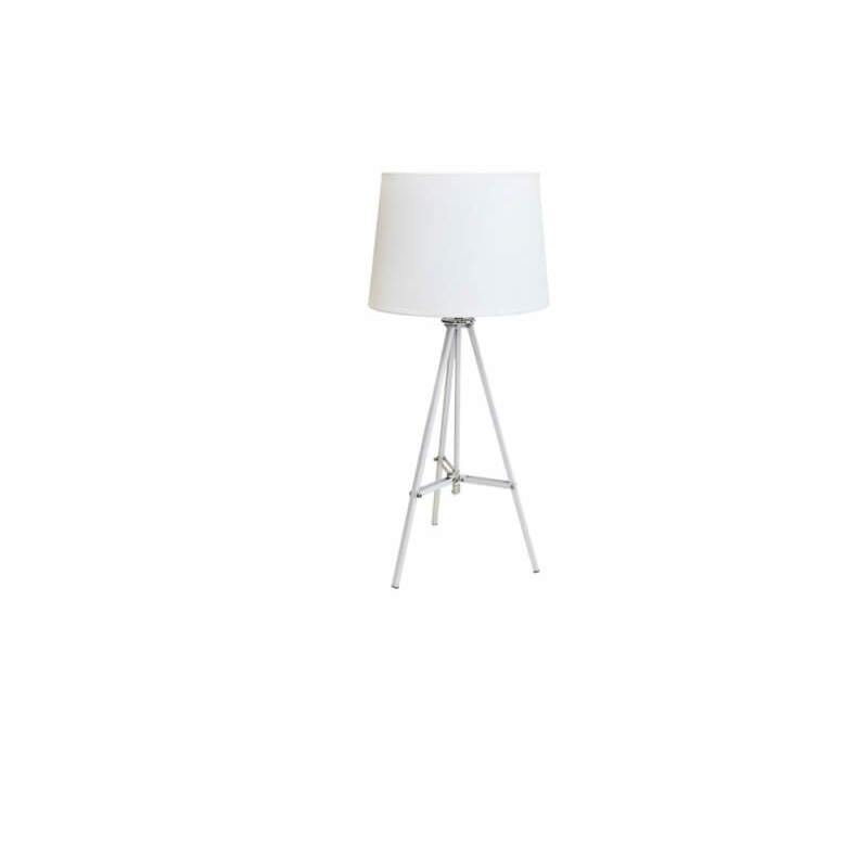 Лампа статив изцяло бяла