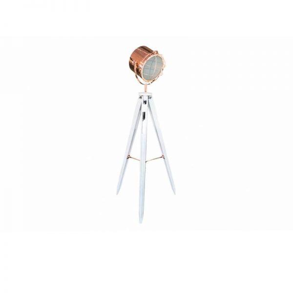 Лампа статив тип прожектор, бял