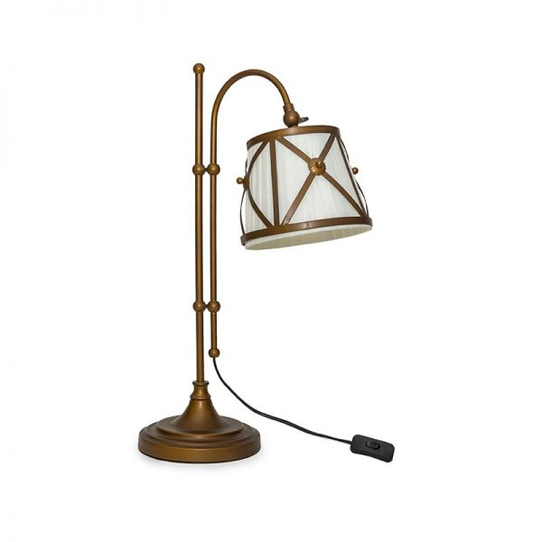 Настолна лампа, кафява