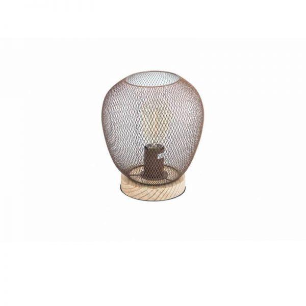 Настолна лампа с мрежест корпус