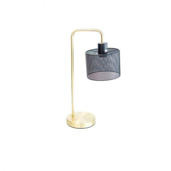 Настолна лампа с мрежов корпус