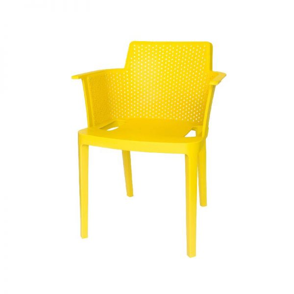 Пластмасов стол, Жълт, 60x58x76.5см