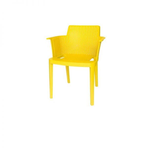 Пластмасов стол, Жълт, 60x58x76.5