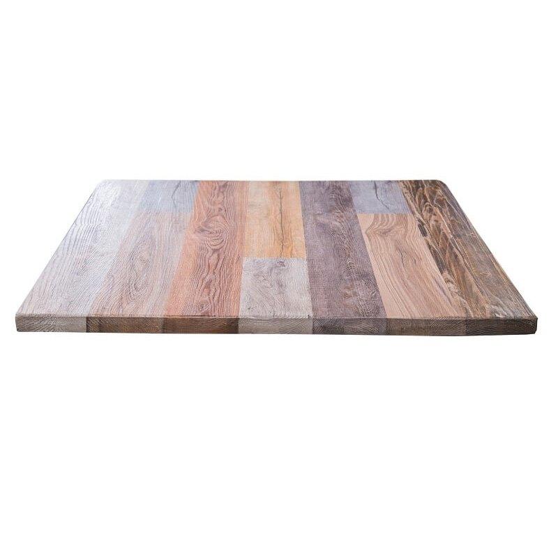 Плот за маса с дървени цвето, 80x80 см