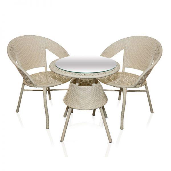 Градински маси и столове – ратанов комплект Маса с два стола