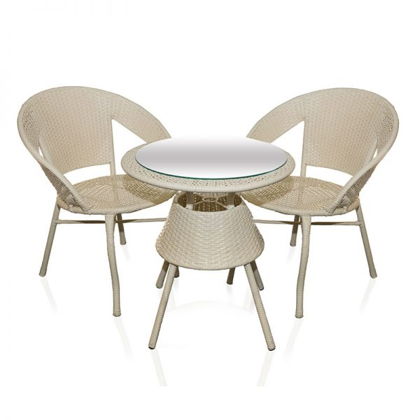 Ратанов комплект 2 стола и маса за градината