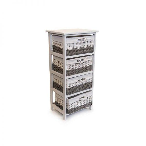 Шкафче 4-ка от ратанови чекмеджета, 38x28x78 см