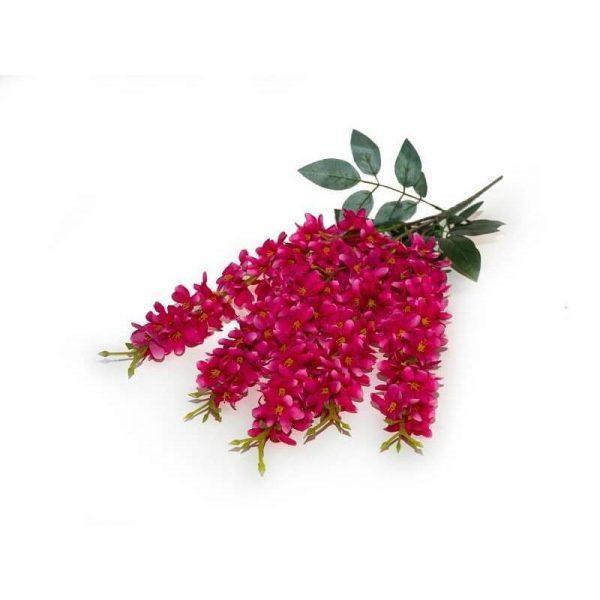 Текстилни изкустени цветя, 5 клонки разклоненния, 60см