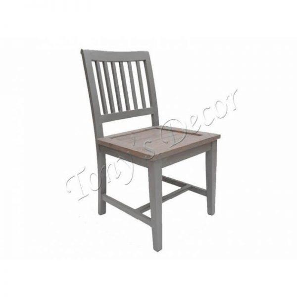 Трапезен стол, Сив, 47x47x92
