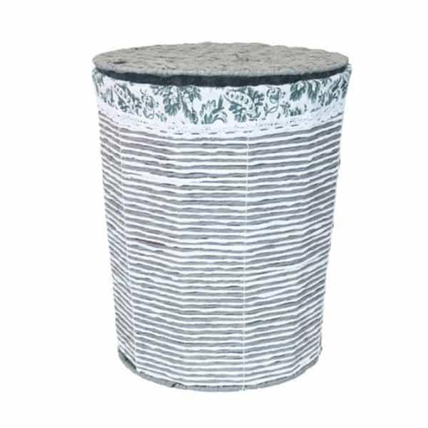 Цилиндричен кош от ратан с капак, 38x48 см
