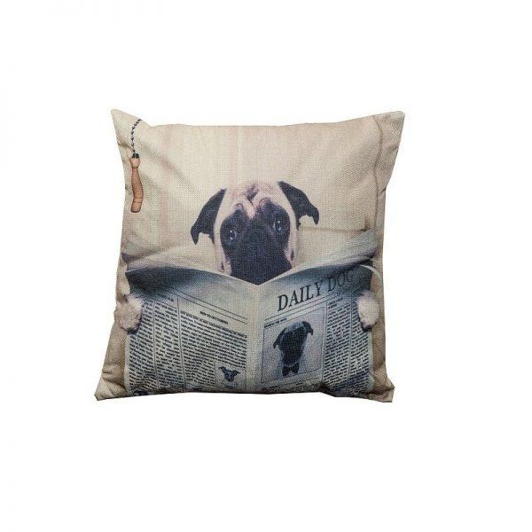 Възглавница с декоражия Куче, 43x43 см