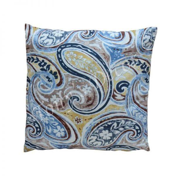 Възглавница с цветна Синя декорация