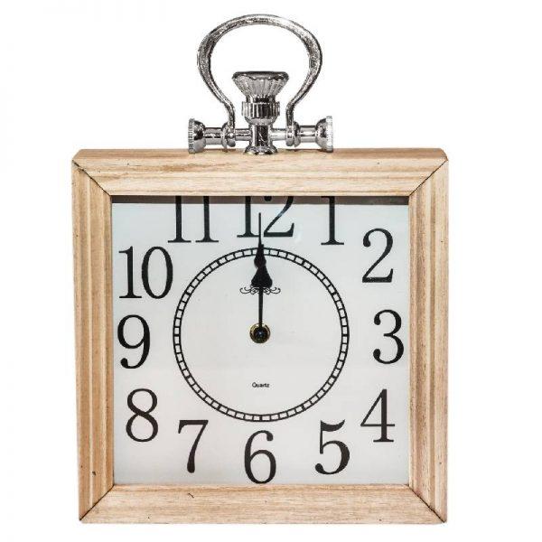 Дървен часовник квадратен, 6*24*30см