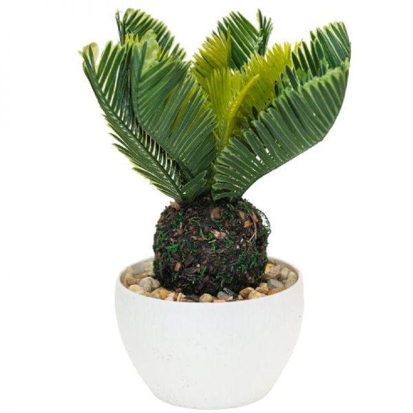 Изкуствени цветя в саксия, изкуствена палма Цикас 12*12*25см