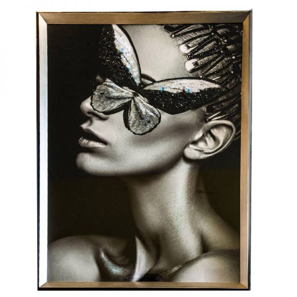 Арт картина жена с пеперуда ,65*85см