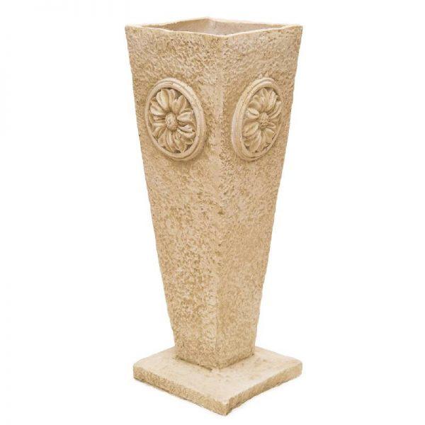 Каменна ваза, 21*21*63см