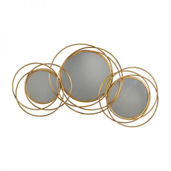 Огледало с кръгове 3-ка 70*70см