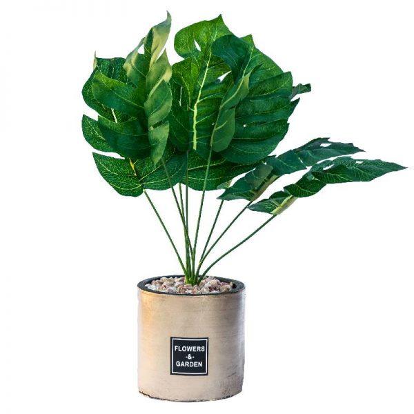 Изкуствени цветя в саксия, Растение в кашпа  10*10*33