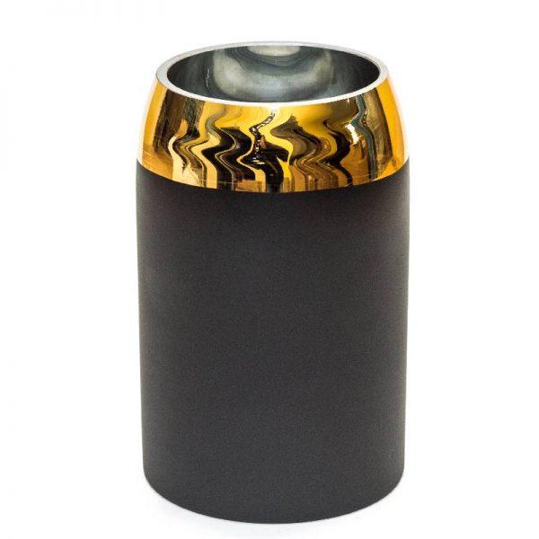 Модерна ваза със Златни мотиви, 10*10*20см