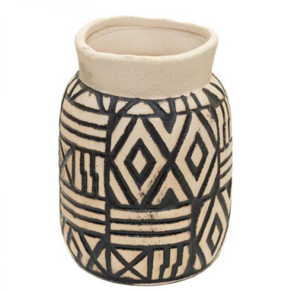 Керамична ваза с Орнаменти, 13*13*22см