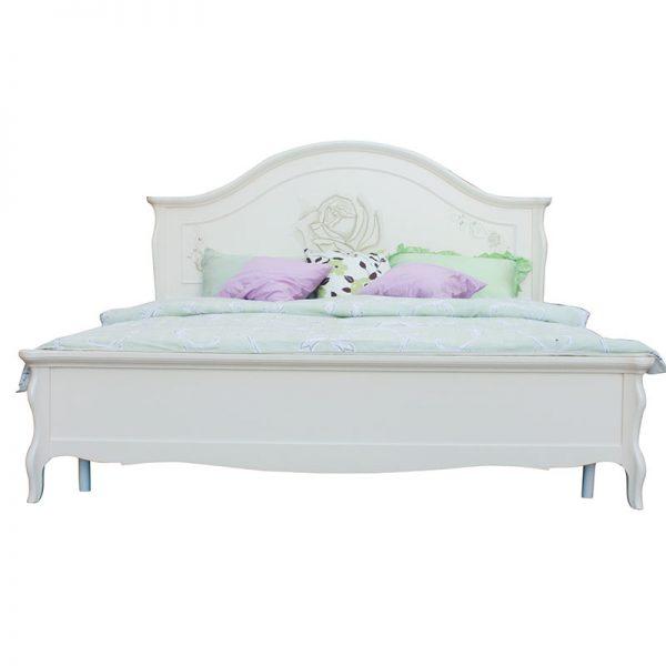 Спалня от масив Бреза, цвят Слонова кост