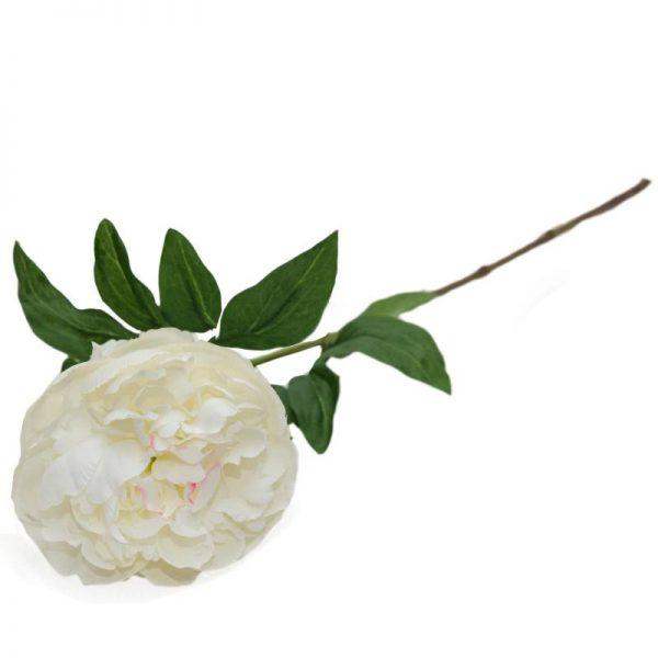 Изкуствени цветя - декоративен стрък божури, 25см