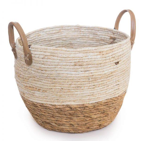 Плетена конопена кошница малка