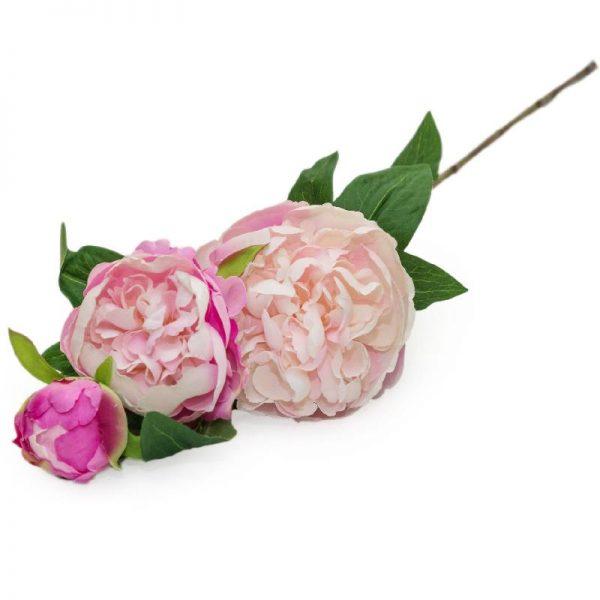 Букет изкуствени цветя божури,75см