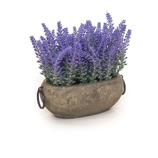 Изкуствени цветя в саксия - Лавандула в кашпа