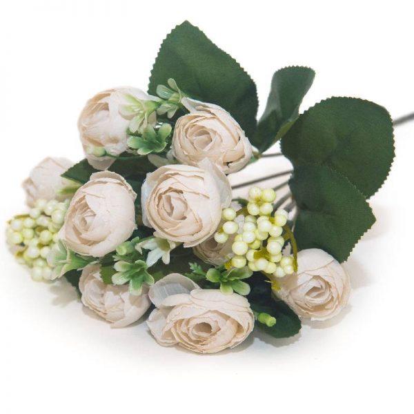 Изкуствен букет мини розички,26 см