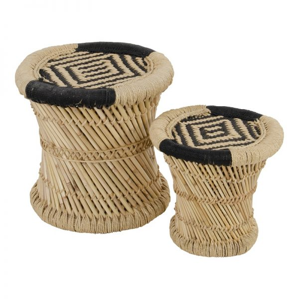 Комплект бамбукови градински помощни масички
