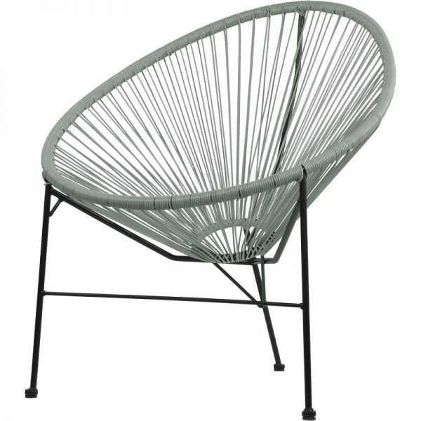 Градински ратанов стол Джио в сив цвят, 71*79*86см
