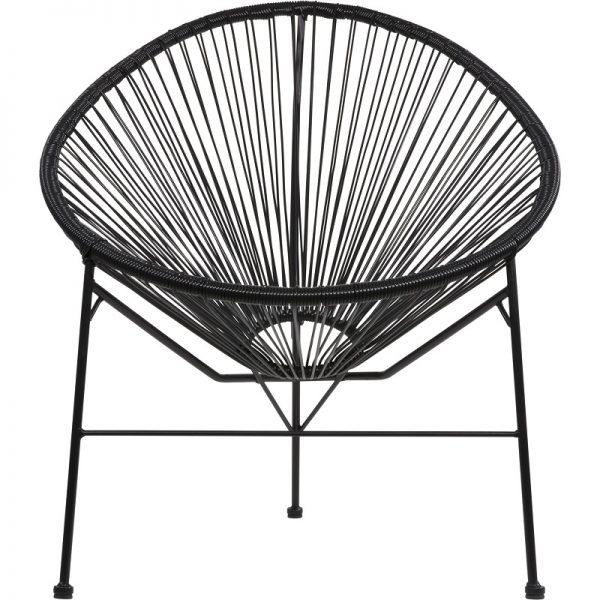 Градински ратанов стол Джио в черен цвят, 71*79*86см