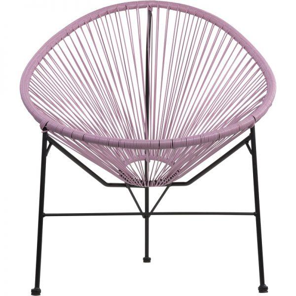 Градински ратанов стол Джио в розов цвят, 71*79*86см