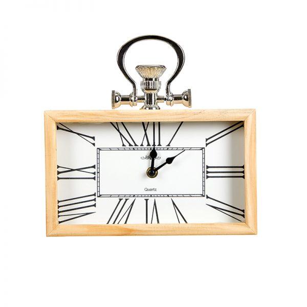 Часовник дървен правоъгълен ,5*20*25см