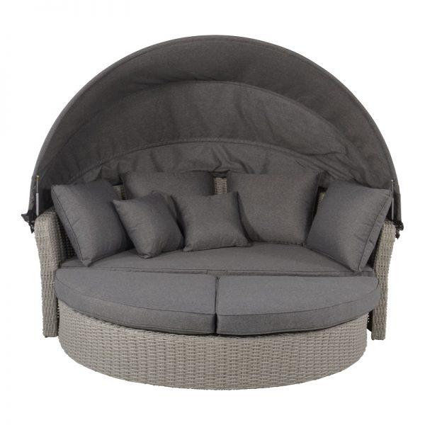 Градинско лаундж легло със сенник, 200*182*161см